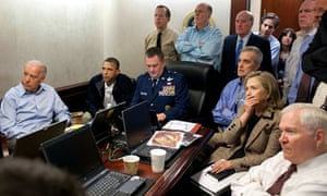 Cold and calculating: Obama directs the assassination of Osama bin Laden.