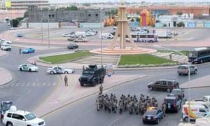 Saudi riot police at demo in al Qatif