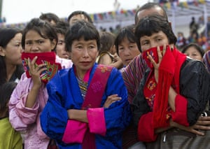 Bhutan royal wedding: People watch the dancing during the wedding celebrations