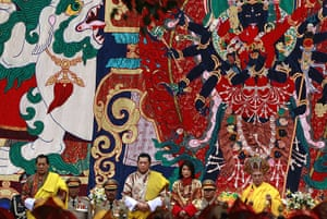 Bhutan royal wedding: Buddhist blessings prior to the marriage ceremony