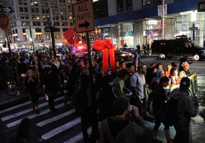 Occupy Wall Street: Protesters march down Broadway