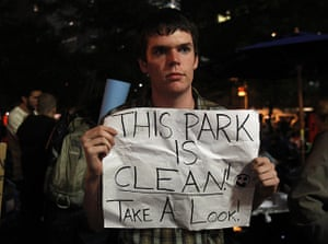 Occupy Wall Street: An Occupy Wall Street campaign demonstrator