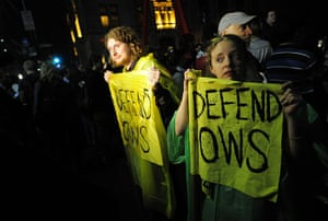Occupy Wall Street: Protesters in Zuccotti Park in New York refuse to leave