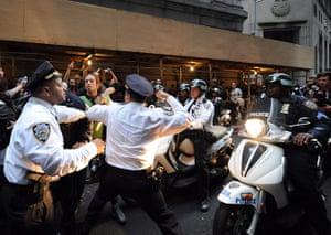 Occupy Wall Street: New York City Police Department Inspector Cardona hits Felix Rivera