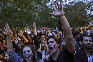 Occupy Wall Street: Protesters react to the announcement that they would not have to leave