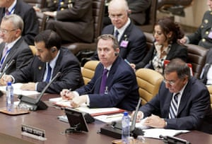 Liam Fox: 6 October 2011: Liam Fox along with US Secretary of Defence Leon Panetta