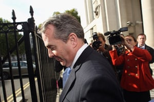 Liam Fox: October 10 2011: Liam Fox leaves the Ministry of Defence building