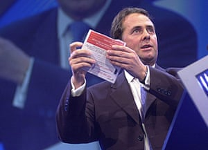 Liam Fox: 3 October 2000: Liam Fox delivers his address to the Party conference