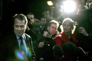 Liam Fox: 20 October 2005: Liam Fox leaves the Houses of Parliament