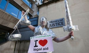 Legal aid protest outside ministry of justice