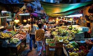 Central Wet Market Hollywood Road Hong Kong