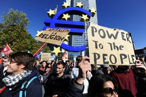 Global Occupy: Occupy Frankfurt protest