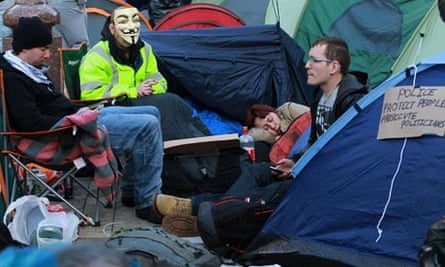 Occupy London activists begin a second day of protest