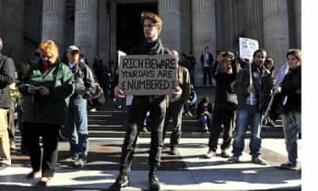 Protesters at the London Stock Exchange, October 2011.