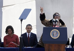 Martin Luther King: Aretha Franklin sings before President Barack Obama speaks