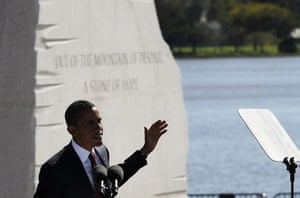 Martin Luther King: President Barack Obama speaks at a dedication ceremony