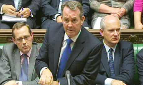 Liam Fox in the House of Commons, October 2011.