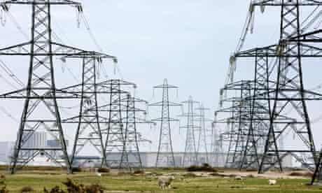 Pylons symbolising electricity consumption