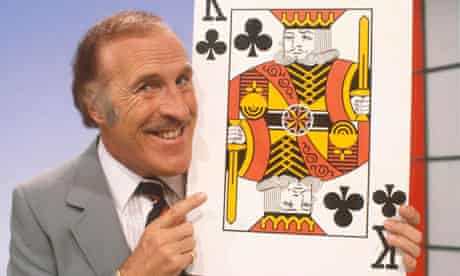 Bruce Forsyth host of ITV gameshow Play Your Cards Right