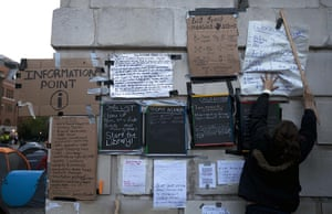 Occupy London: information point