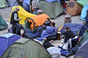 Occupy London: tent city