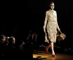 History of lace: 19 February 2008: The Prada Fall/Winter women collection 2008/09
