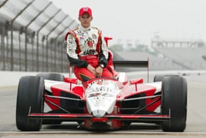 Dan Wheldon Retrospective: Dan Wheldon after qualifying for pole in the Indy 500 in 2004