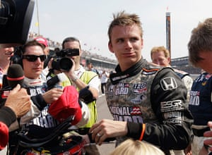 Dan Wheldon Retrospective: Dan Wheldon, of England after finishing second in 2010