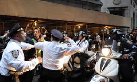 Occupy Wall Street protest in New York, Johnny Cardona