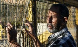 gilad shalit release: A Palestinian man waits at Beituniya checkpoint