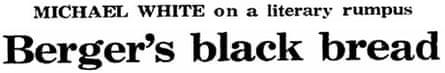 John Berger donates winnings to Black Panthers in 1972