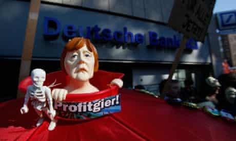A figure of German Chancellor Angela Merkel