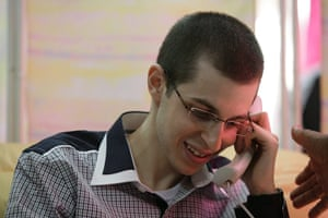 Shalit release: Gilad Shalit speaking on the phone with his family
