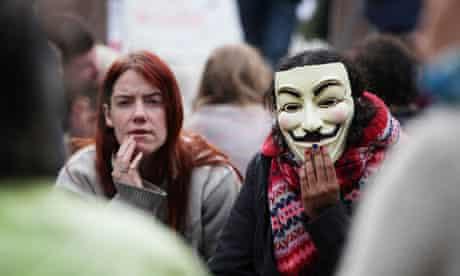 Occupy London demonstrators