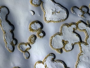 Month in space:  Dry Ice Pits on Mars
