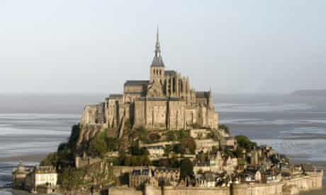 Aerial view of Mont St Michel