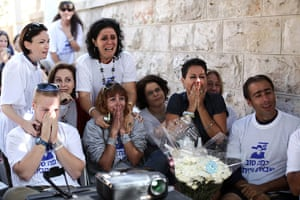Shalit release: Supporters of abducted Israeli soldier Gilad Shalit celebrate his release