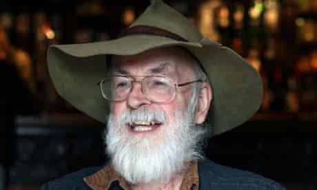 Terry Pratchett in a big hat