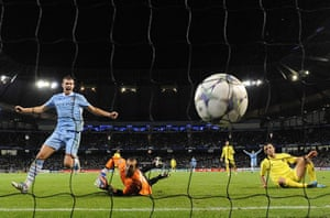 Tuesday Champions League: Villarreal's Marchena scores an own goal & Manchester City's Dzeko cheers