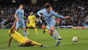 Tuesday Champions League: David Silva backheels the ball