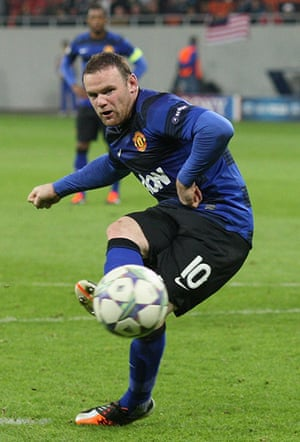 Tuesday Champions League: Wayne Rooney scores his 2nd penalty in United's 2-0 win over Otelul Galati