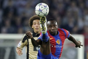 Tuesday Champions League: FC Basel's Jacques Zoua controls the ball