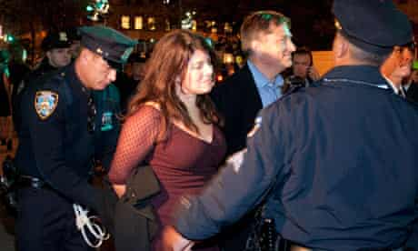 Author Naomi Wolf is arrested in New York at an Occupy Wall Street protest