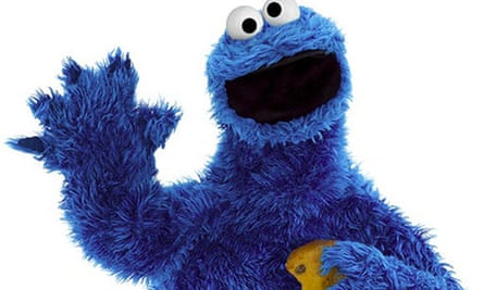 Sesame Street's Cookie Monster, with a cookie