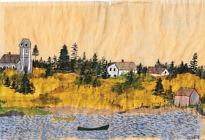 Exchanging Hats book: Nova Scotia Landscape, a painting by Elizabeth Bishop