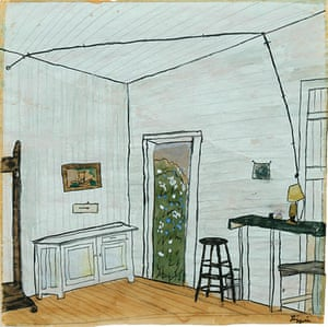 Exchanging Hats book: Interior with Extension Cord, a painting by Elizabeth Bishop