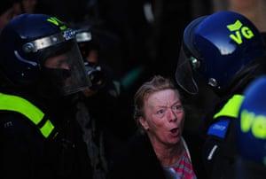 Dale Farm: A traveller confronts riot police