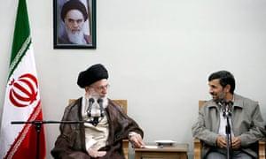 Khamenei and Ahmadinejad