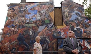 Battle of Cable Street mural.
