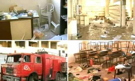 Images of destruction in Rastan